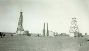 Oil exploration at the 6666 Ranch